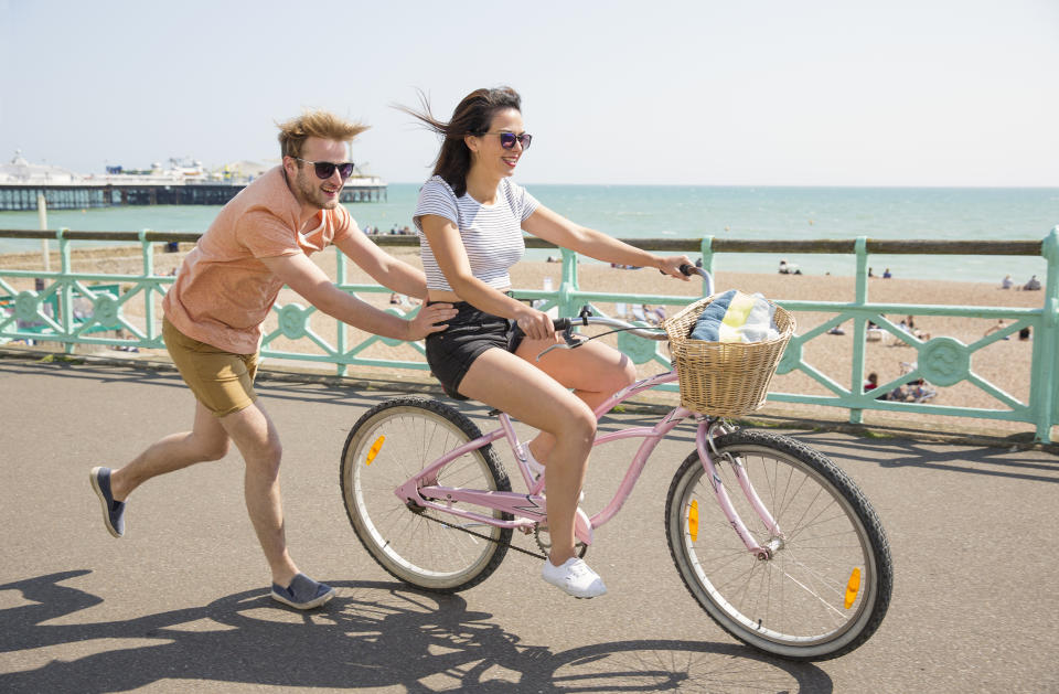 A cycle along the promenade is the perfect way to take in the sites. (Getty Images)