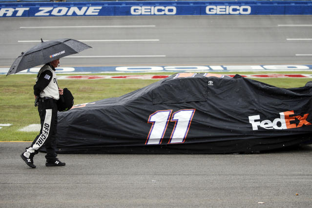 Sunday's race at Talladega won't end until Monday. (AP Photo/Butch Dill)