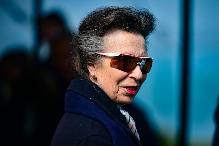The Princess Royal views a Youth Training Programme during a visit to the Royal Yacht Squadron at The Castle in Cowes, on the Isle of Wight. Picture date: Wednesday April 14, 2021.