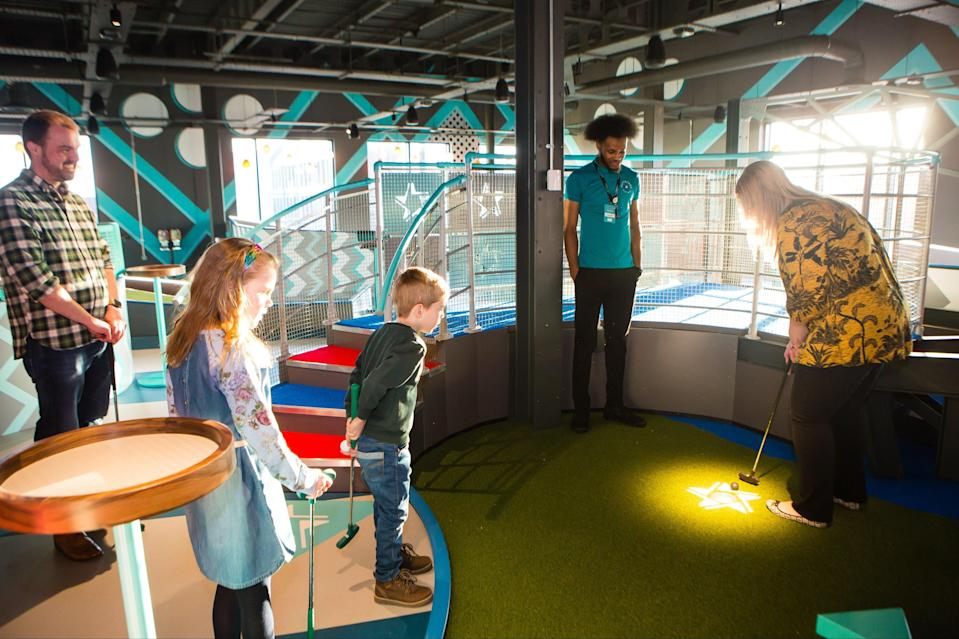 <p>The leisure firm launched family-focused mini-golf offering Puttstars in March 2020 in a bid to disrupt the market</p> (Hollywood Bowl)