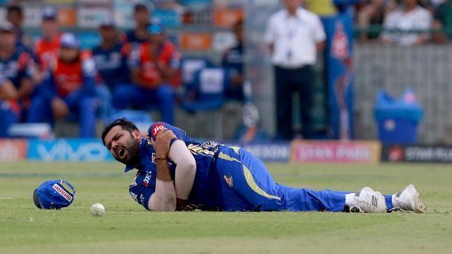 Rohit injured his shoulder against Delhi Daredevils in IPL 2018