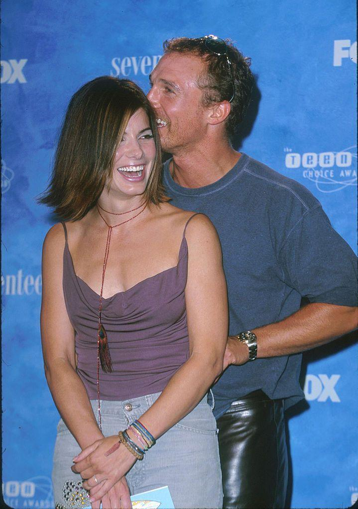 """<p>The pair met on the set of Time To Kill, and dated for two years. In an interview with <a href=""""https://www.cosmopolitan.com/entertainment/celebs/news/a1550/sandra-bullock/"""" rel=""""nofollow noopener"""" target=""""_blank"""" data-ylk=""""slk:Cosmopolitan"""" class=""""link rapid-noclick-resp"""">Cosmopolitan</a>, Sandra said, """"It's the work we both put in. There's a great amount of respect and love. I feel very cared for by Matthew. No matter where he is in his life or where I am in mine—he could be married—I know we would stay close.""""</p>"""