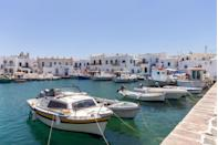 <p>Paros is located in the Aegean Sea, and has a perfect mix of marinas, beaches, and traditional villages. The island's Kolimbithres beach has plenty of swimming coves. When you're tired of the beach life, you can check out historical landmarks like the Panagia Katapoliani, a Byzantine-era church.</p>