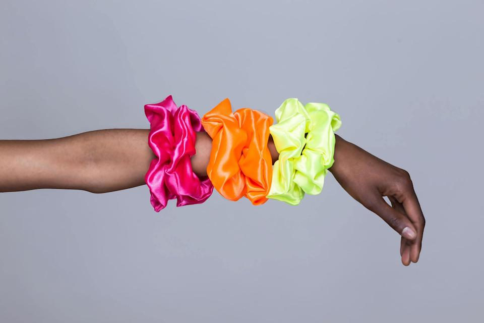 Neon Scrunchies for Kinky or Thick Hair. Image via Etsy.