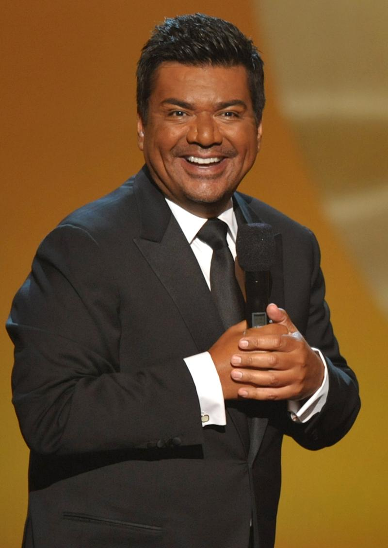 """FILE - In this Sept. 16, 2012 file photo, comedian George Lopez hosts the ALMA Awards in Pasadena, Calif. Amid rumors of another """"Tonight"""" show shakeup, Lopez says he has no desire to return to the late-night talk show scene. Lopez said he had a great two-year run as a late night talk show host. But, he said, """"I'm out of that thing."""" (Photo by John Shearer/Invision/AP, File)"""
