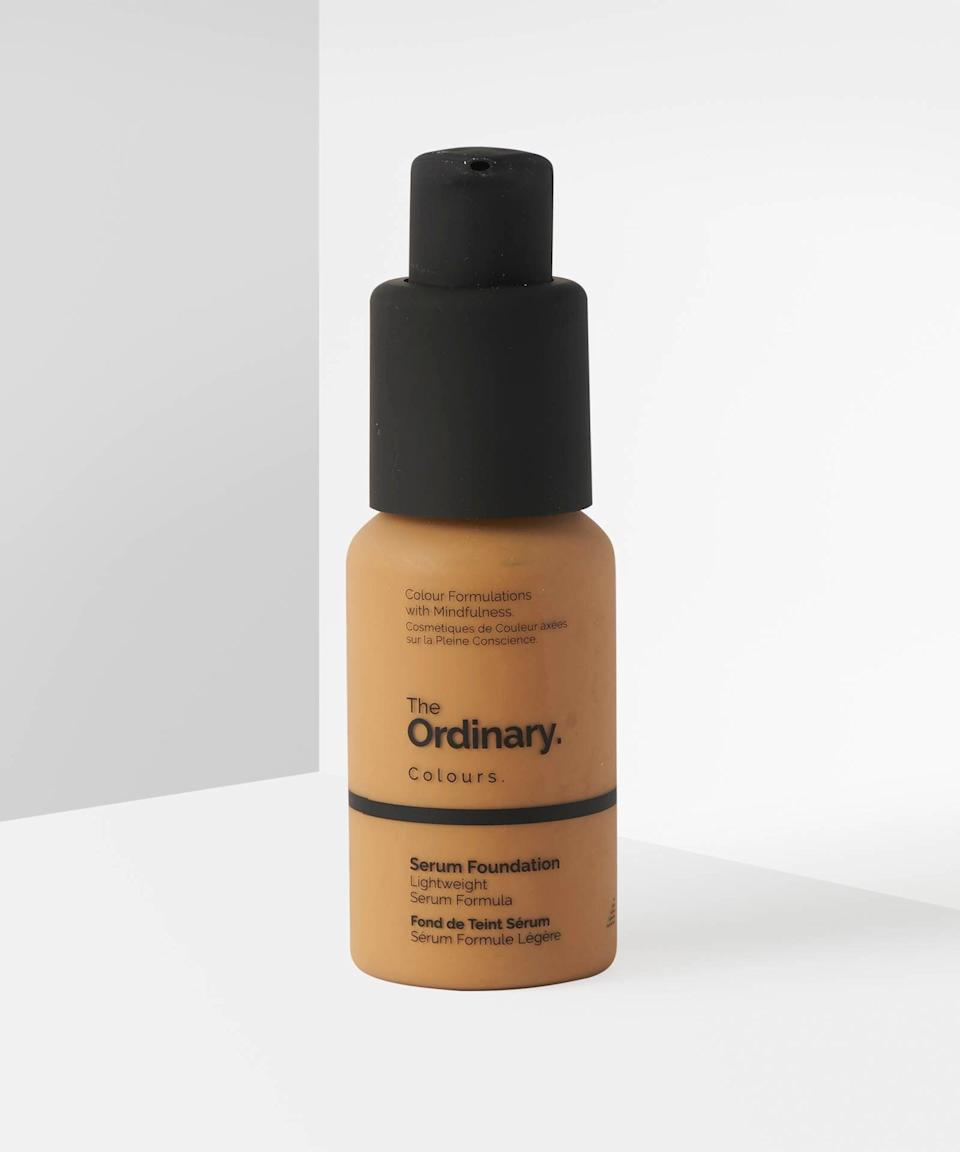 "<h3>Serum Foundation</h3> <br>This complexion product is water-like in texture, but has surprisingly buildable coverage that can go from light to medium-full in a matter of pumps. There's also a <a href=""https://www.beautybay.com/p/the-ordinary/coverage-foundation-spf-15/"" rel=""nofollow noopener"" target=""_blank"" data-ylk=""slk:full-coverage formula"" class=""link rapid-noclick-resp"">full-coverage formula</a> available at the same price — we hope to see an expanded shade range for both products soon.<br><br><strong>The Ordinary</strong> Serum Foundation, $, available at <a href=""https://go.skimresources.com/?id=30283X879131&url=https%3A%2F%2Fwww.beautybay.com%2Fp%2Fthe-ordinary%2Fserum-foundation-spf-15%2Fmedium-dark-30y%2F"" rel=""nofollow noopener"" target=""_blank"" data-ylk=""slk:Beauty Bay"" class=""link rapid-noclick-resp"">Beauty Bay</a><br>"
