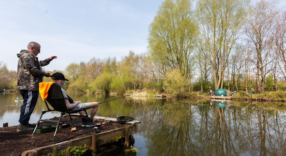Fishing social group 'Tackling Minds' wants to offer the scheme to people suffering with mental health problems (SWNS)