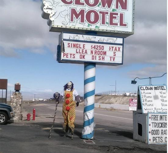 The Clown Hotel in Nevada has been around for 20 years. Photo: Instagram
