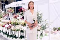 <p>Rosie Huntington-Whiteley celebrates the launch of her beauty line, Rose Inc, at Westfield Century City on August 28 in L.A. </p>