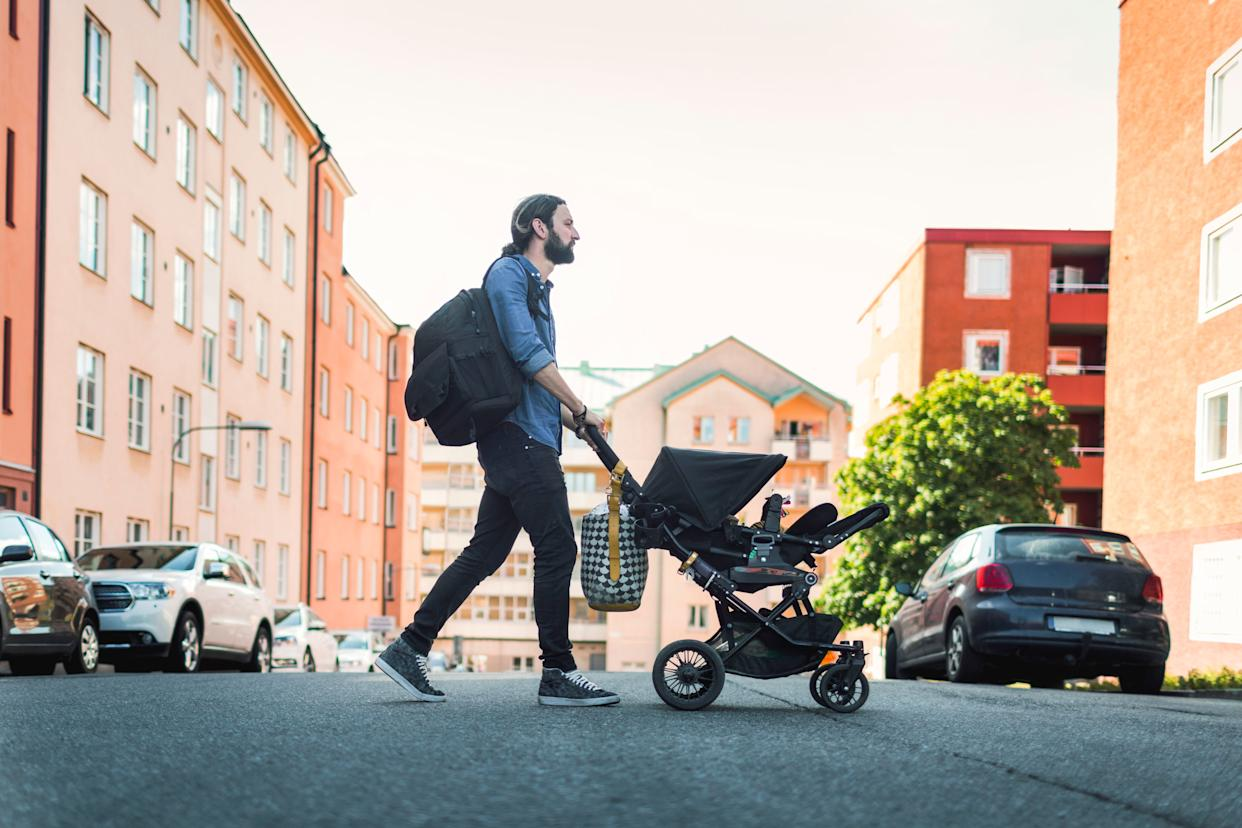 Paid leave done well can help make child care arrangements more equitable and, in heterosexual couples, can mean fathers take on a more equal share of parenting. (Photo: Maskot via Getty Images)