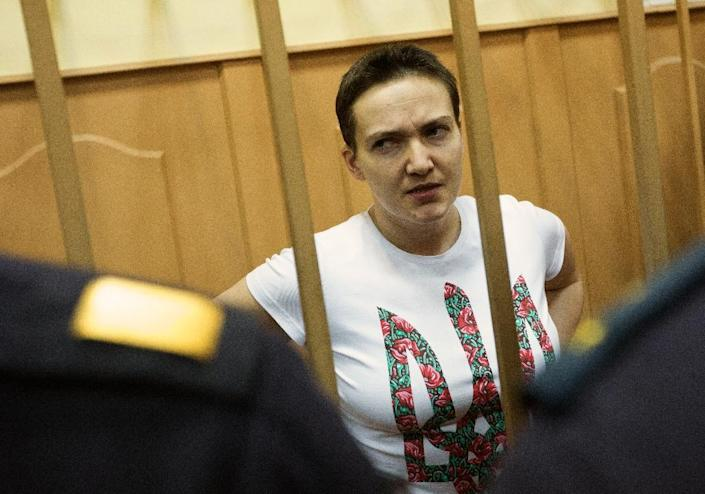 Ukrainian military helicopter pilot Nadiya Savchenko was convicted in Russia over the killing of two Russian journalists in war-torn east Ukraine (AFP Photo/Kirill Zykov)