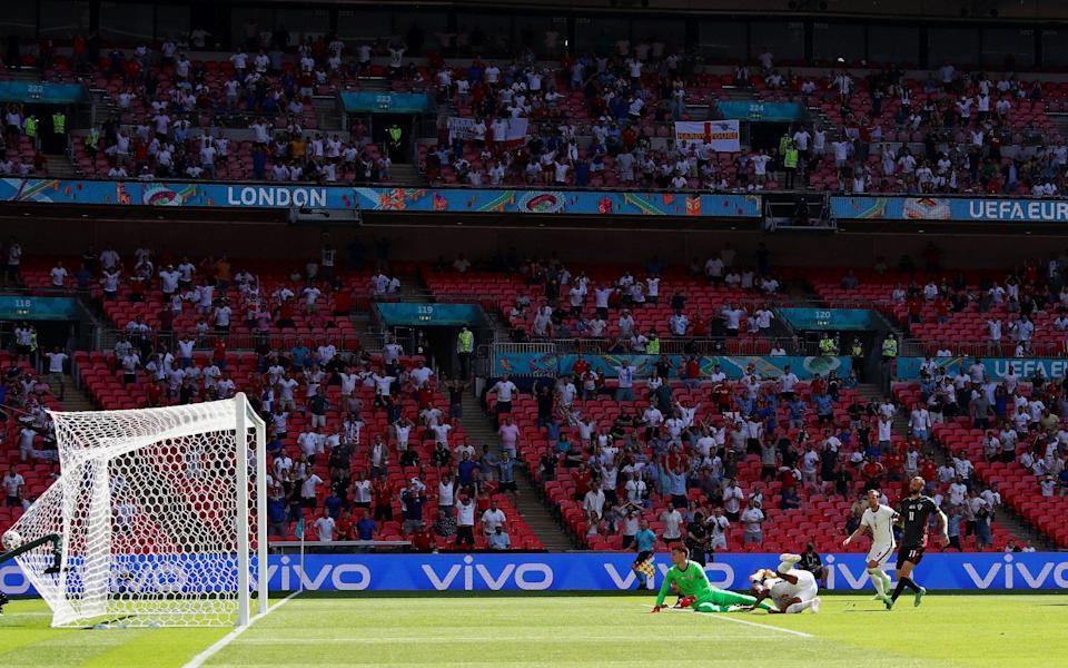 Sterling bundles the ball in after excellent work from Phillips - Getty Images