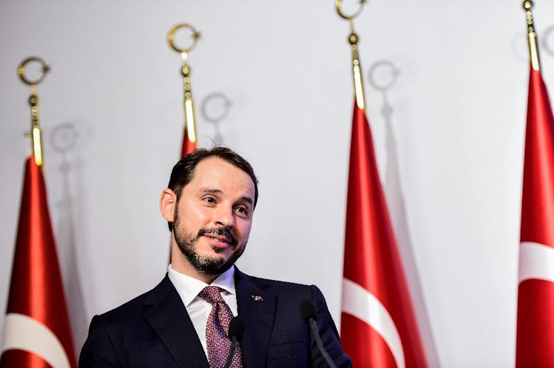 Erdogan made his son-in-law finance minister after the June election (AFP Photo/YASIN AKGUL)
