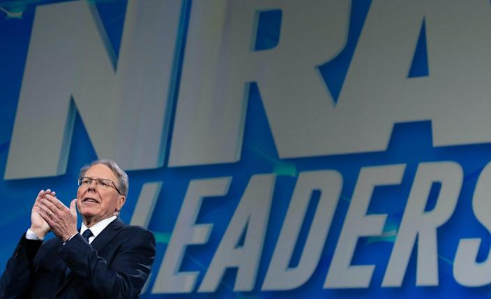 """<span class=""""caption"""">Evidence of the gun group's mismanagement under Wayne LaPierre's leadership is mounting.</span> <span class=""""attribution""""><a class=""""link rapid-noclick-resp"""" href=""""https://www.gettyimages.com/detail/news-photo/wayne-lapierre-executive-vice-president-and-chief-executive-news-photo/1139474941"""" rel=""""nofollow noopener"""" target=""""_blank"""" data-ylk=""""slk:Saul Loeb/AFP via Getty Images"""">Saul Loeb/AFP via Getty Images</a></span>"""