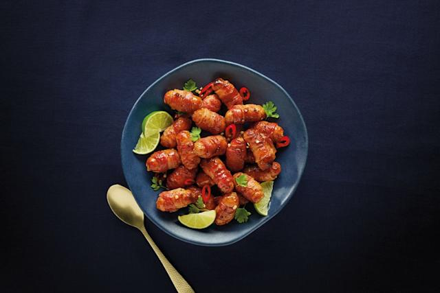 Try Aldi's news Scorpion Chilli Pigs in Blankets for £2.29 a pack (Photo: Aldi)