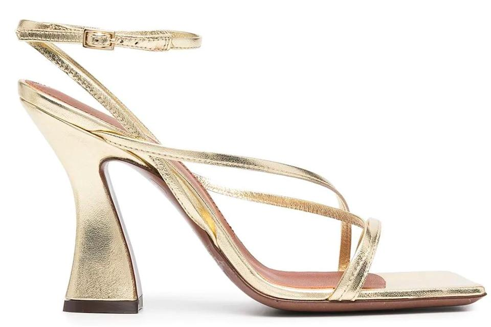 gold heels, sandals, l'autre chose
