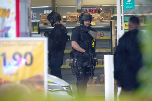 Armed police were called to the scene (Ben Birchall/PA)