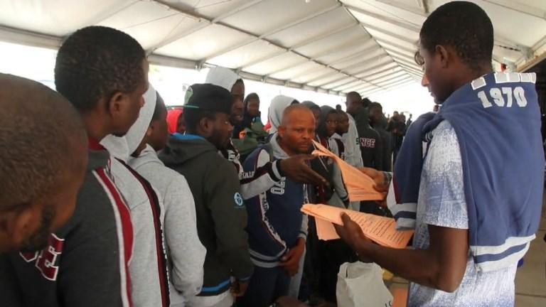 Libyan authorities fly home 159 Nigerian migrants stranded after failing to reach Europe, in the second such voluntary repatriation operation this week. Earlier, the Ivory Coast evacuates more than 150 migrants stranded in the North African country, bringing them home with the help of the International Organisation for Migration.