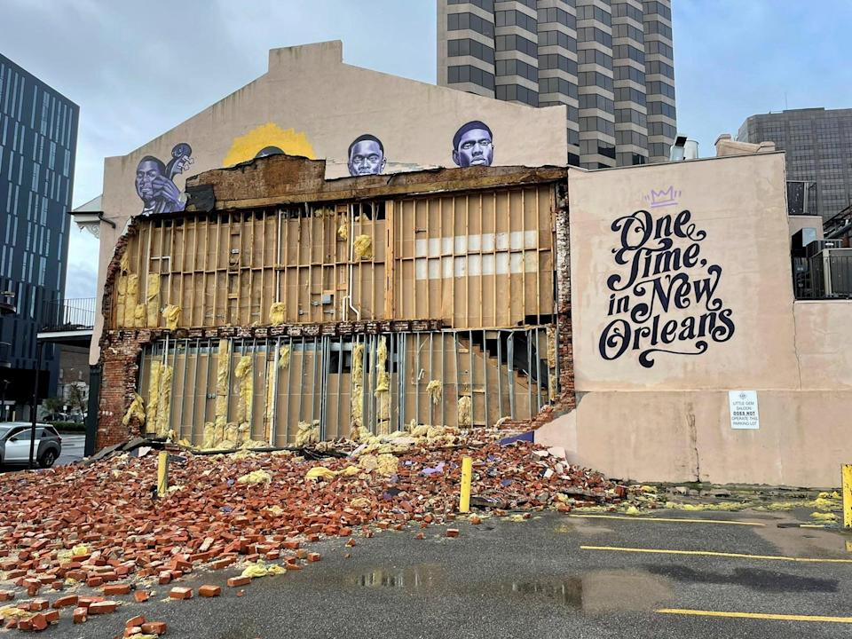The Karnofsky shop suffers severe damage after Hurricane Ida pummeled New Orleans with strong winds in Louisiana (REUTERS)