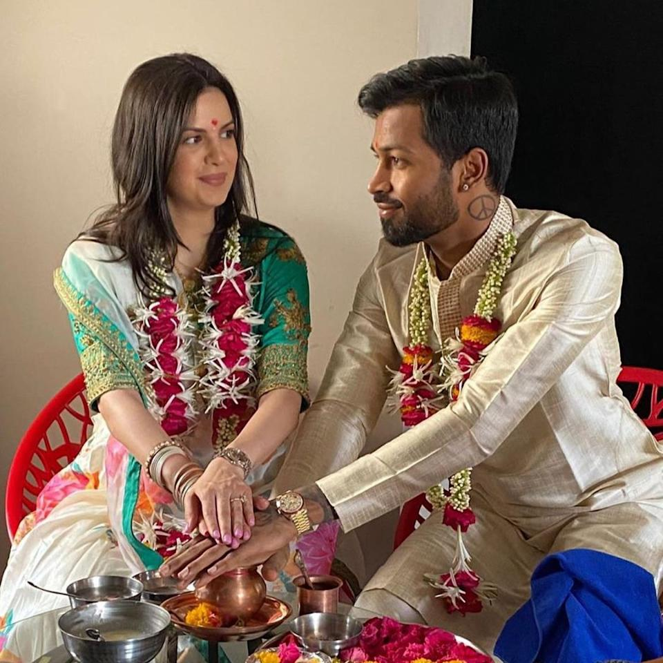 Hardik Pandya and Natasa Stankovic are expecting their FIRST baby; couple  tie the knot in lockdown in 2020 | Celebrity wedding photos, Intimate  wedding, Celebrity weddings
