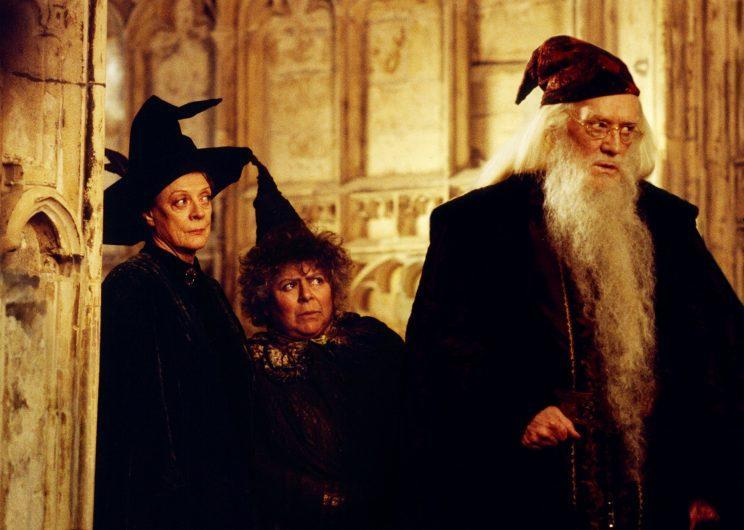 Maggie Smith, Miriam Margolyes, and Richard Harris in 2002's <em>Harry Potter and the Chamber of Secrets</em>. (Photo: Warner Brothers/courtesy Everett Collection)