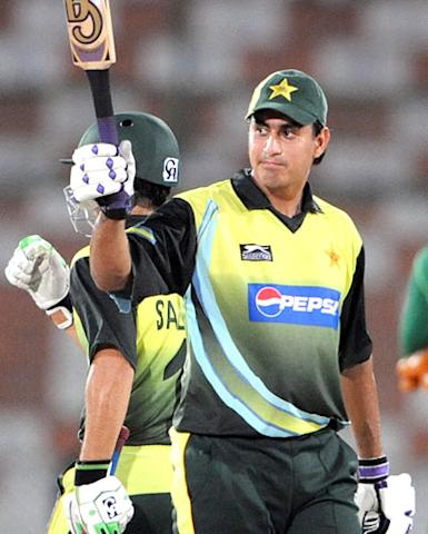 The young Nasir Jamshed was in a more aggressive mode, hitting five fours and two sixes in his 56-ball stay at the crease. The 18-year-old Nasir Jamshed reached his fourth international one-day half-century in his ninth match from 52 balls.
