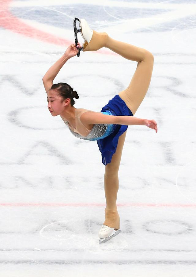Figure Skating - World Figure Skating Championships - The Mediolanum Forum, Milan, Italy - March 21, 2018 China's Li Xiangning during the Ladies Short Programme REUTERS/Alessandro Bianchi