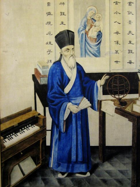 Jesuit scholar, Matteo Ricci, studied Chinese in Zhaoqing and produced the first western-style map in the language. Photo: Handout