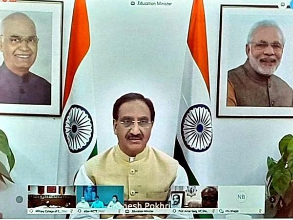 Union Education Minister Ramesh Pokhriyal Nishank (File photo)