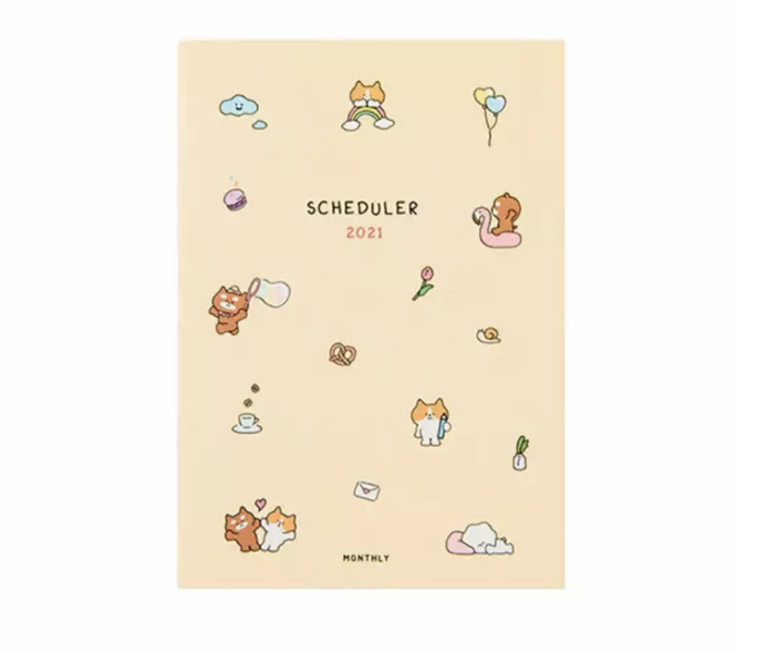 2021 Monthly Scheduler (Dated) - Cats. (PHOTO: Lazada)