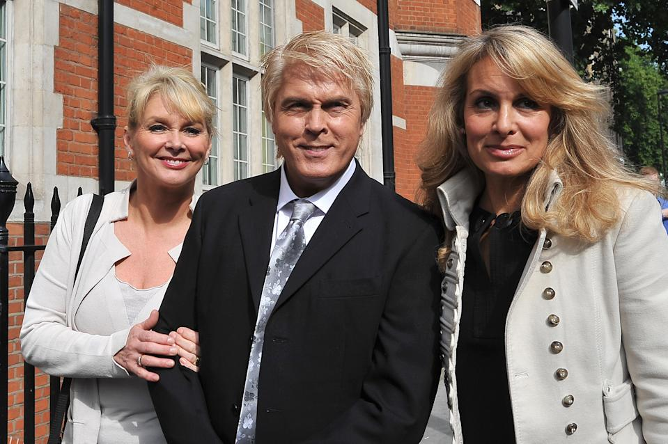 (From left to right) Former Bucks Fizz members Cheryl Baker, Mike Nolan and Jay Aston arrive at the Trade Mark Registry in London, to hear judgement on a long-running dispute over the rights to the group's name.