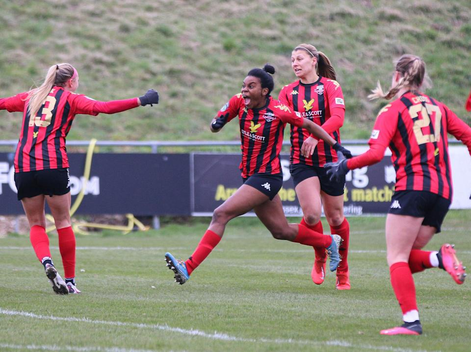 <p>Lewes FC in action in the FA Women's Championship</p> (Lewes)