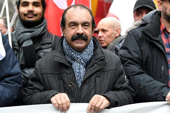 CGT union leader Philippe Martinez said he doubts the government's sincerity in negotiations (AFP Photo/Bertrand GUAY)