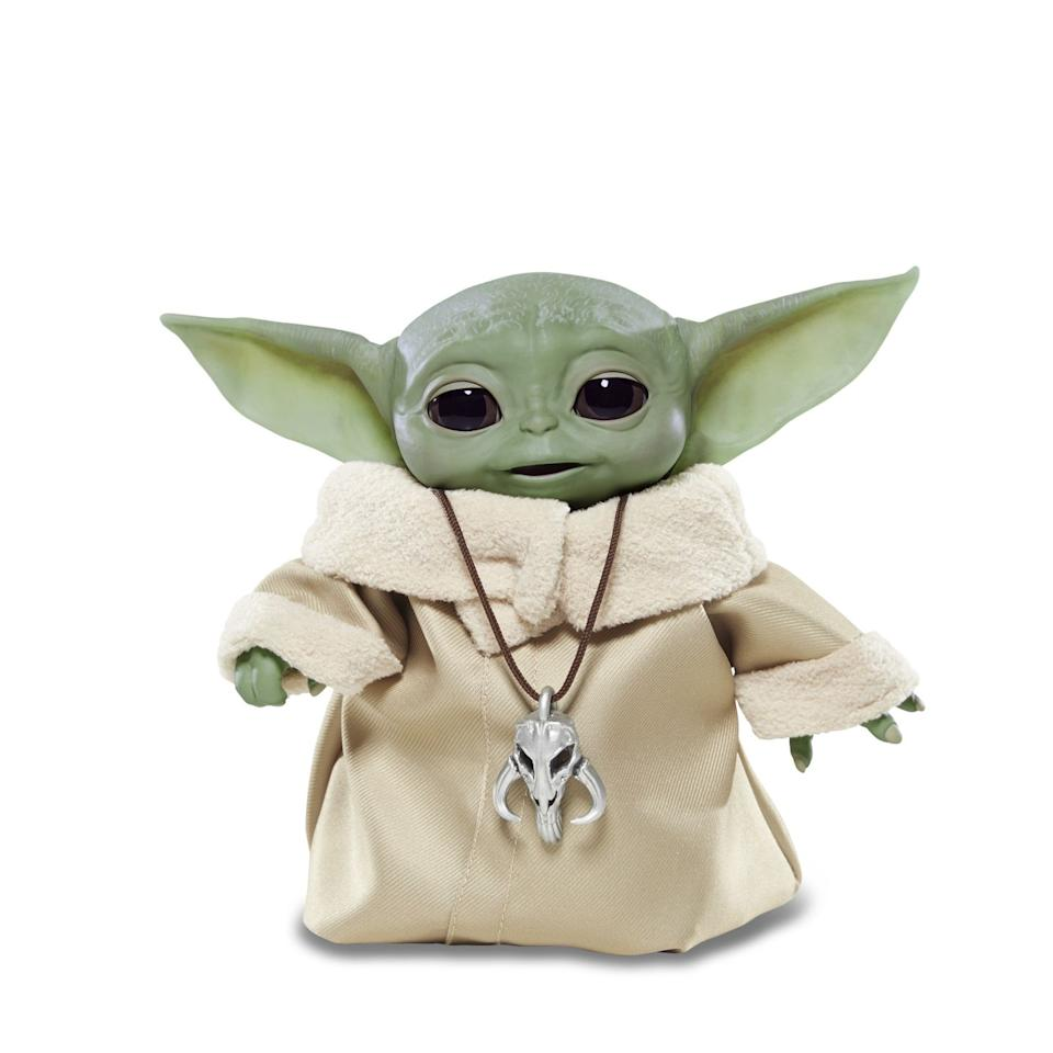 """<p>Admit it: Ever since you saw <a href=""""https://www.goodhousekeeping.com/life/entertainment/a29459609/best-disney-plus-shows/"""" target=""""_blank""""><em>The Mandalorian</em> on Disney+</a>, you've wanted to adopt a """"Baby Yoda"""" all your own. This is the next best thing. The Child (as it's officially called, since the character isn't <em>really</em> a baby version of Yoda) makes lifelike sounds and motions, including adorable baby coos, giggles, and babbling noises. If he gathers all his strength, he can close his eyes and try to use the Force — but immediately has to take a Force nap afterwards, so lay him down and watch him sleep.</p><p><em>Age: 4+<br>Price: $60<br></em><em>Expected release date: </em><em>Fall 2020</em></p>"""