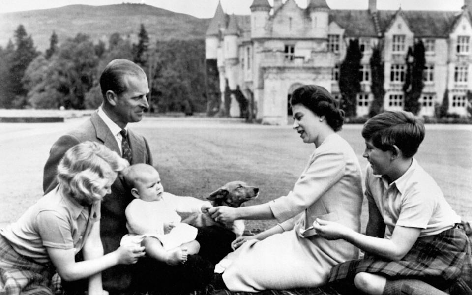 The Duke of Edinburgh, Queen Elizabeth and family at Balmoral. - PA Archive