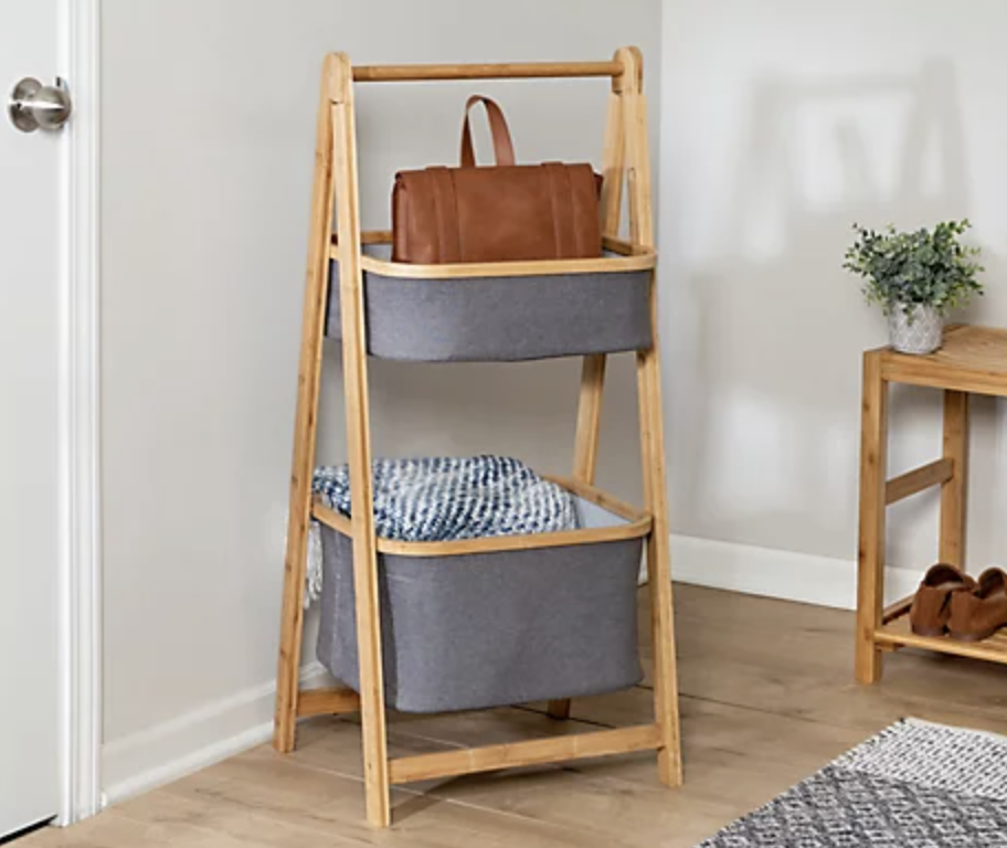 Small space storage doesn't have to be fussy...and can be quite cute, in fact. (Photo: QVC)