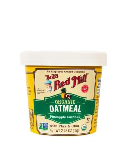 "<p><a href=""https://www.popsugar.com/buy/Bob-Red-Mill-Organic-Pineapple-Coconut-Oatmeal-Cups-575856?p_name=%20Bob%27s%20Red%20Mill%20Organic%20Pineapple%20Coconut%20Oatmeal%20Cups&retailer=amazon.com&pid=575856&price=32&evar1=fit%3Aus&evar9=47382573&evar98=https%3A%2F%2Fwww.popsugar.com%2Ffitness%2Fphoto-gallery%2F47382573%2Fimage%2F47382574%2FBobs-Red-Mill-Organic-Pineapple-Coconut-Oatmeal-Cup&list1=vegetables%2Cfruits%2Chealthy%20living%2Cfood%20shopping%2Chealthy%20eating%20tips&prop13=mobile&pdata=1"" rel=""nofollow"" data-shoppable-link=""1"" target=""_blank"" class=""ga-track"" data-ga-category=""Related"" data-ga-label=""https://www.amazon.com/Bobs-Red-Mill-Organic-Pineapple/dp/B074V99X9X/ref=sr_1_1?dchild=1&amp;keywords=bobs+red+mill+pineapple+organic&amp;qid=1586479698&amp;sr=8-1"" data-ga-action=""In-Line Links""> Bob's Red Mill Organic Pineapple Coconut Oatmeal Cups</a> ($32 for 12) are made with real pineapple to give them a tropical flavor without anything artificial. The addition of flax and chia seeds in this single-serve cup brings some much-needed fiber, antioxidants, vitamins, and minerals to your breakfast.</p>"