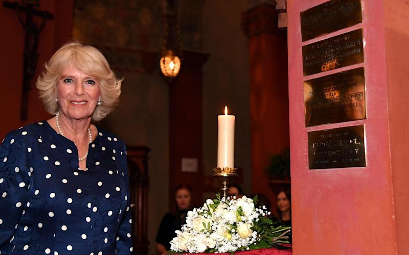 The Duchess of Cornwall visits the St Mark's English Church in Florence - REUTERS