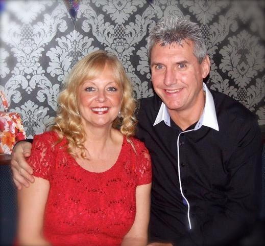 Michelle Davies with her husband John