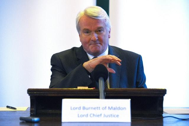 Lord Chief Justice announcement
