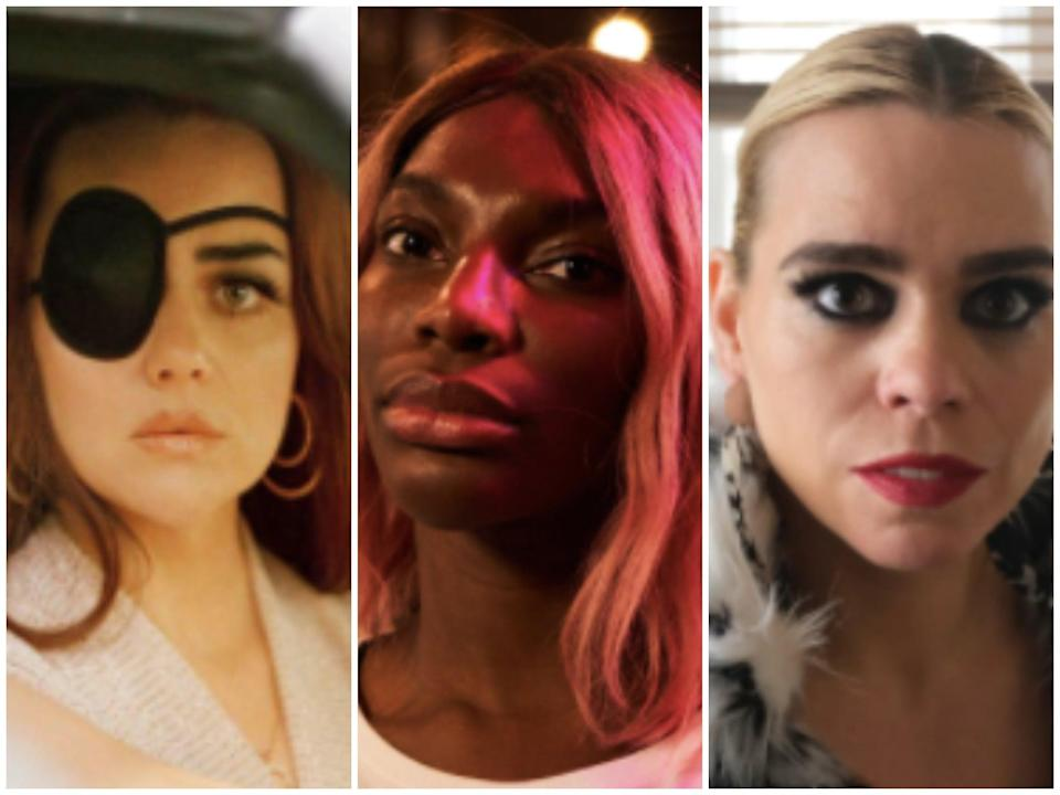 No holds barred: (from left) Hayley Squires as Jolene Dollar, Michaela Coel as Arabella, and Billie Piper as Suzie (Channel 4/Various Artists Limited/Sky Atlantic)