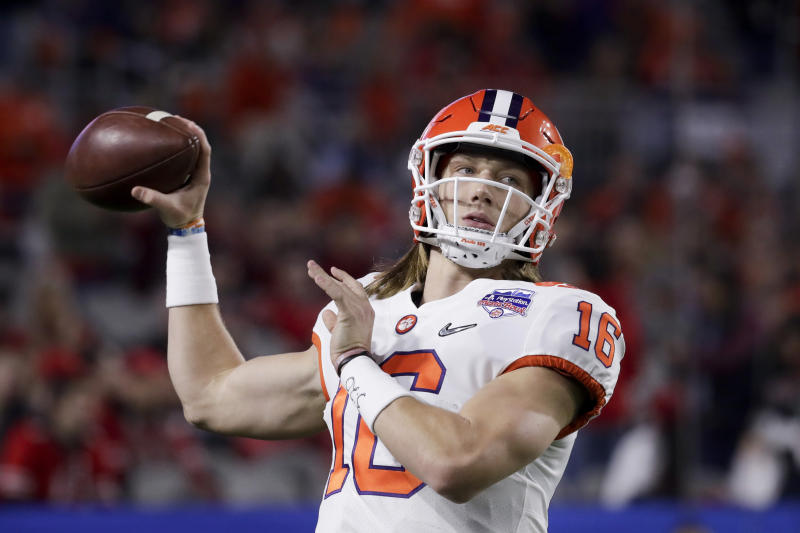 Clemson quarterback Trevor Lawrence is the overwhelming favorite to be the top pick in the 2021 NFL draft, but you never know. (AP Photo/Rick Scuteri)
