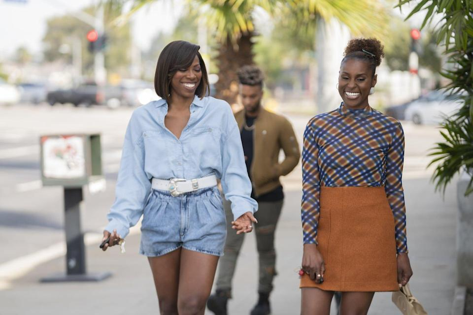 <p>Season four is where we started to see Issa channel some of Molly's professional work attire but with a quirky Issa spin on it. I love this outfit because it's a multiple-venue type of outfit. I could see myself it in for a girls brunch, work, drinks or an event.</p>