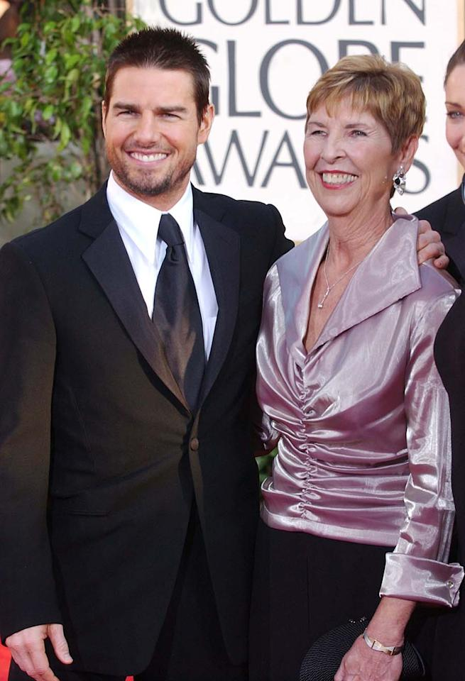 """<p>Tom Cruise was happy when his mother married Jack South, saying, """"In the beginning, I felt threatened by my stepfather. There's a part of you that's in love with your mother. But he is such a wise, smart man. He loved my mother so much that he took us all in, four young people."""" However, Mary and Jack divorced in 2010. (Photo: Getty Images) </p>"""