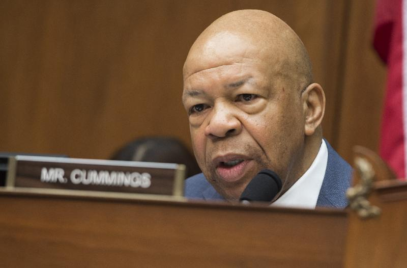 "Democrat Elijah Cummings, seen here on Capitol Hill in Washington, DC, December 9, 2014, says it has been known for ""for several years"" that Hillary Clinton used private email (AFP Photo/Saul Loeb)"