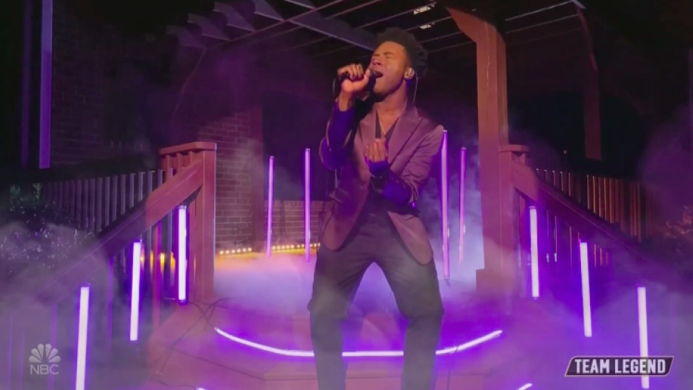 "CammWess covers ""Purple Rain"" on 'The Voice.' (Photo: NBC)"