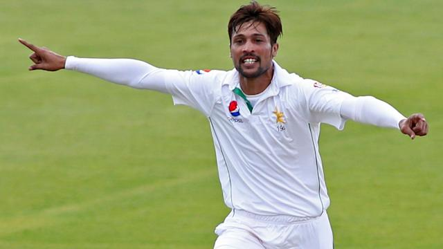 Mohammad Amir took his first five-wicket Test haul since the infamous Lord's Test in 2010, but it was a frustrating day in Jamaica.