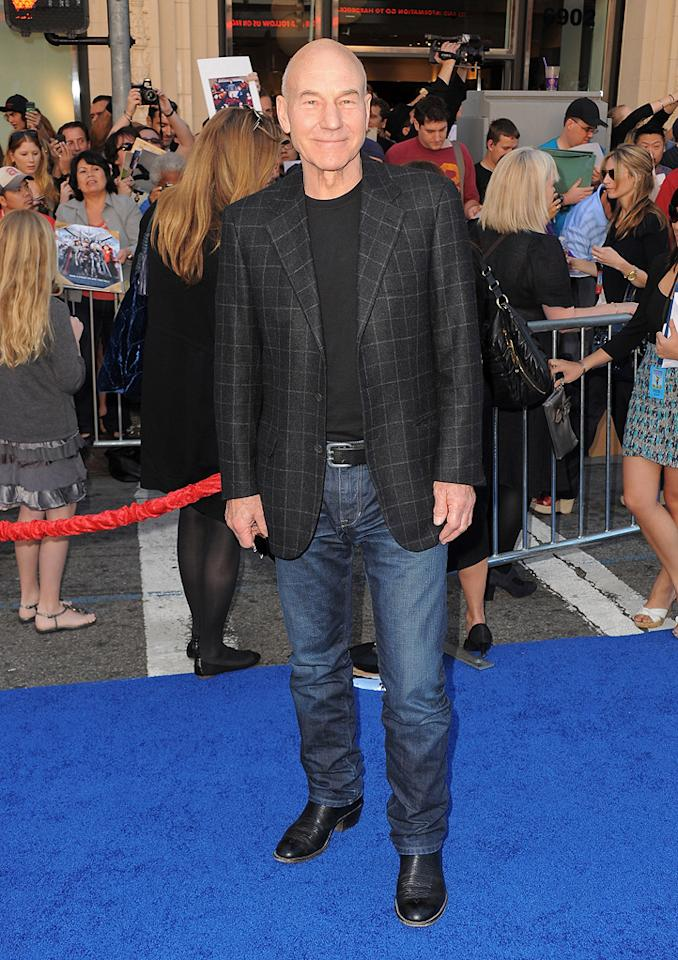 """<a href=""""http://movies.yahoo.com/movie/contributor/1800019365"""">Patrick Stewart</a> attends the Los Angeles premiere of <a href=""""http://movies.yahoo.com/movie/1810080528/info"""">Gnomeo & Juliet</a> on January 23, 2011."""