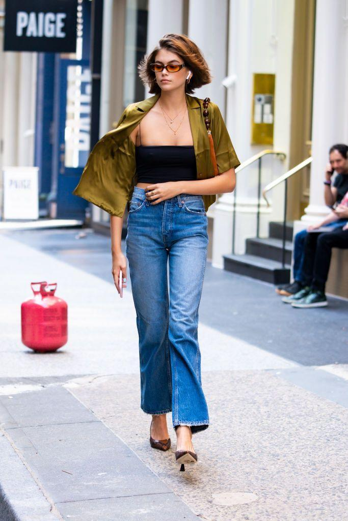 <p>The model was in Manhattan days before her 18th birthday party and fashion week in a casual yet chic ensemble.</p>
