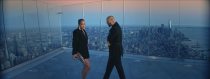 """<p>Maluma and J.Lo dance with Manhattan in the background. She wears a bejeweled blazer dress by David Koma and heels from <a href=""""https://www.harpersbazaar.com/celebrity/latest/a31700221/jennifer-lopez-work-from-home-quarantine/"""" rel=""""nofollow noopener"""" target=""""_blank"""" data-ylk=""""slk:her DSW collection"""" class=""""link rapid-noclick-resp"""">her DSW collection</a> (which you can <a href=""""https://www.dsw.com/en/us/product/jlo-jennifer-lopez-temptationz-2-sandal/482661?activeColor=960"""" rel=""""nofollow noopener"""" target=""""_blank"""" data-ylk=""""slk:buy here"""" class=""""link rapid-noclick-resp"""">buy here</a>).</p>"""